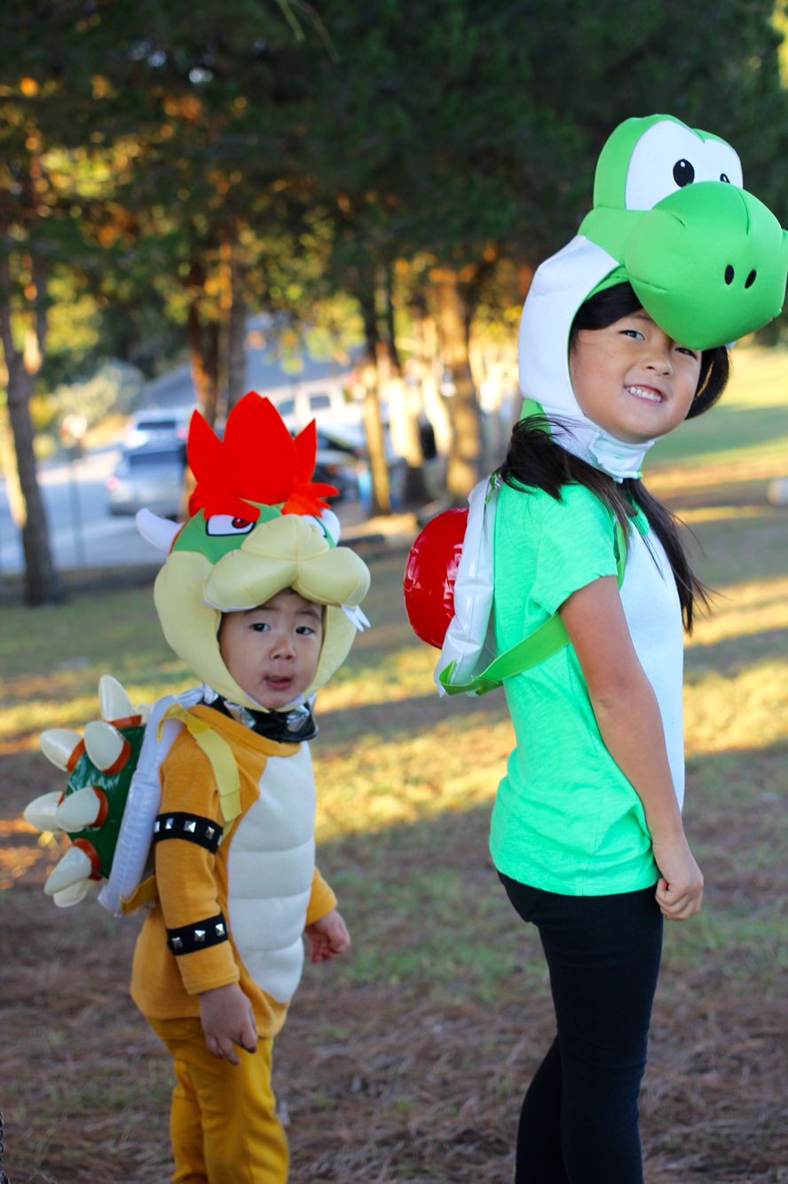 Super Mario Costume DIY  Yoshi and Bowser costume diy