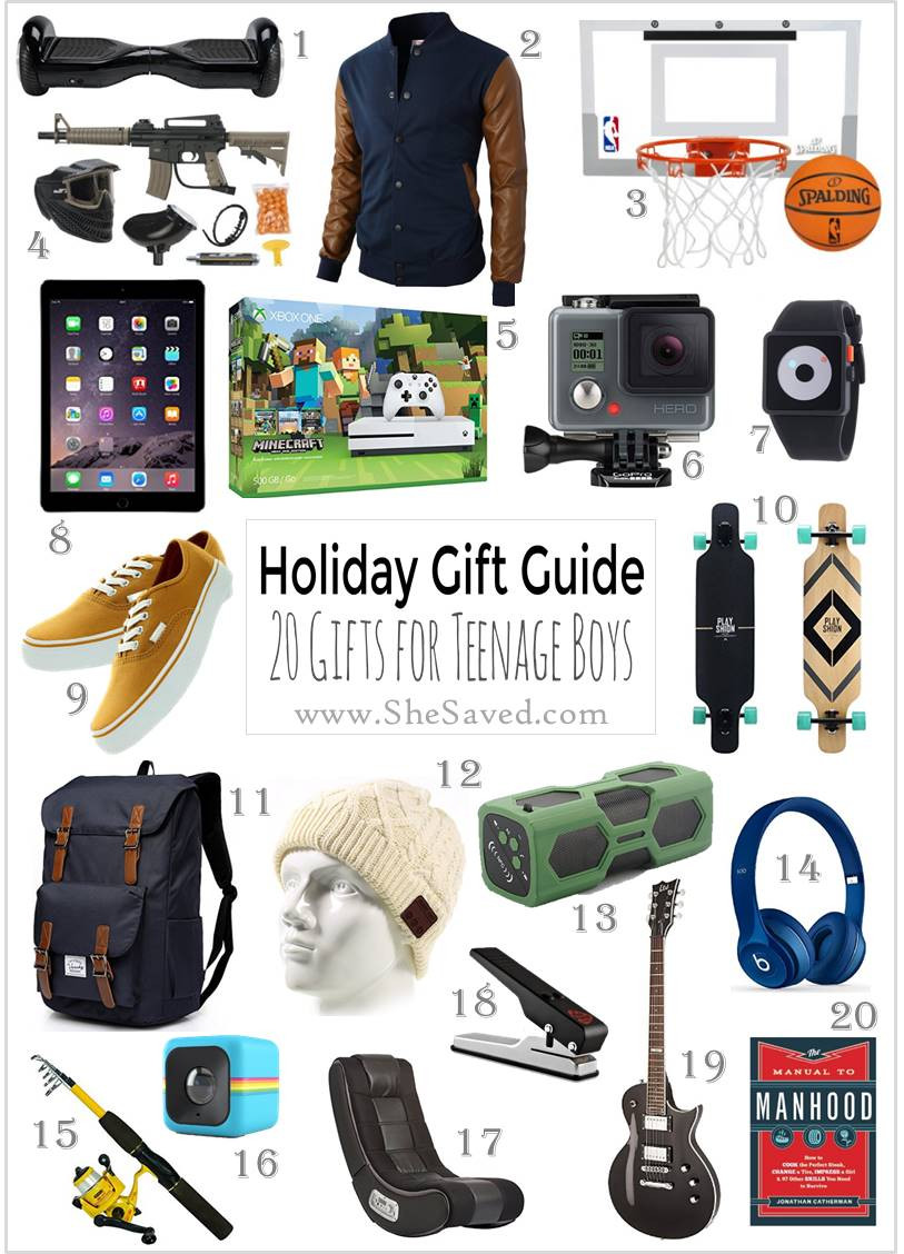 Teen Boys Gift Ideas  HOLIDAY GIFT GUIDE Gifts for Teen Boys SheSaved