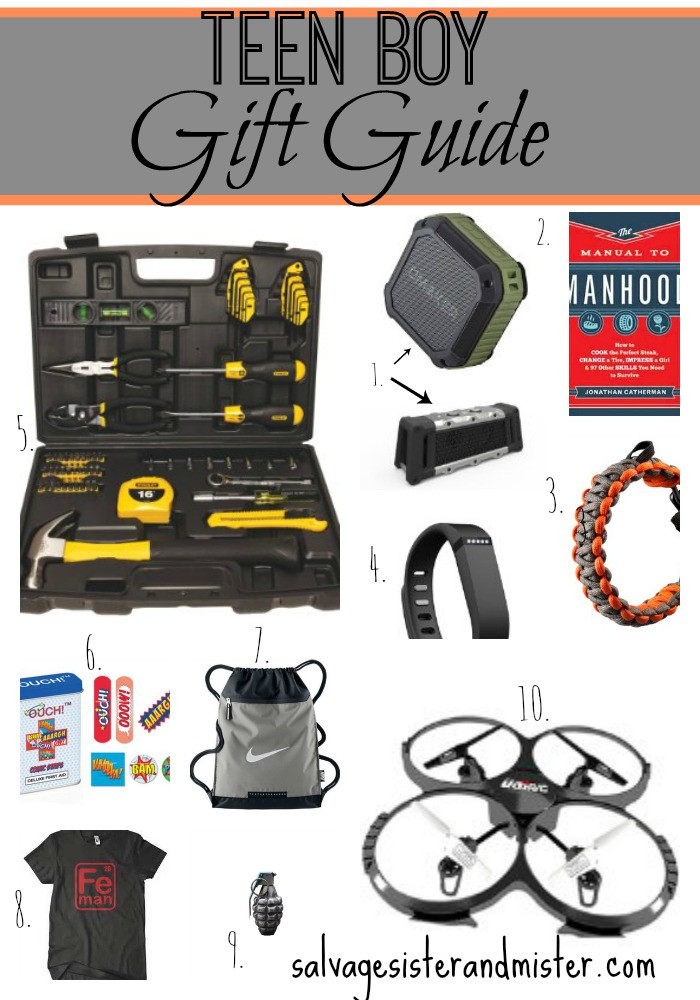 Teen Boys Gift Ideas  Teen Boy Gift Guide Salvage Sister and Mister