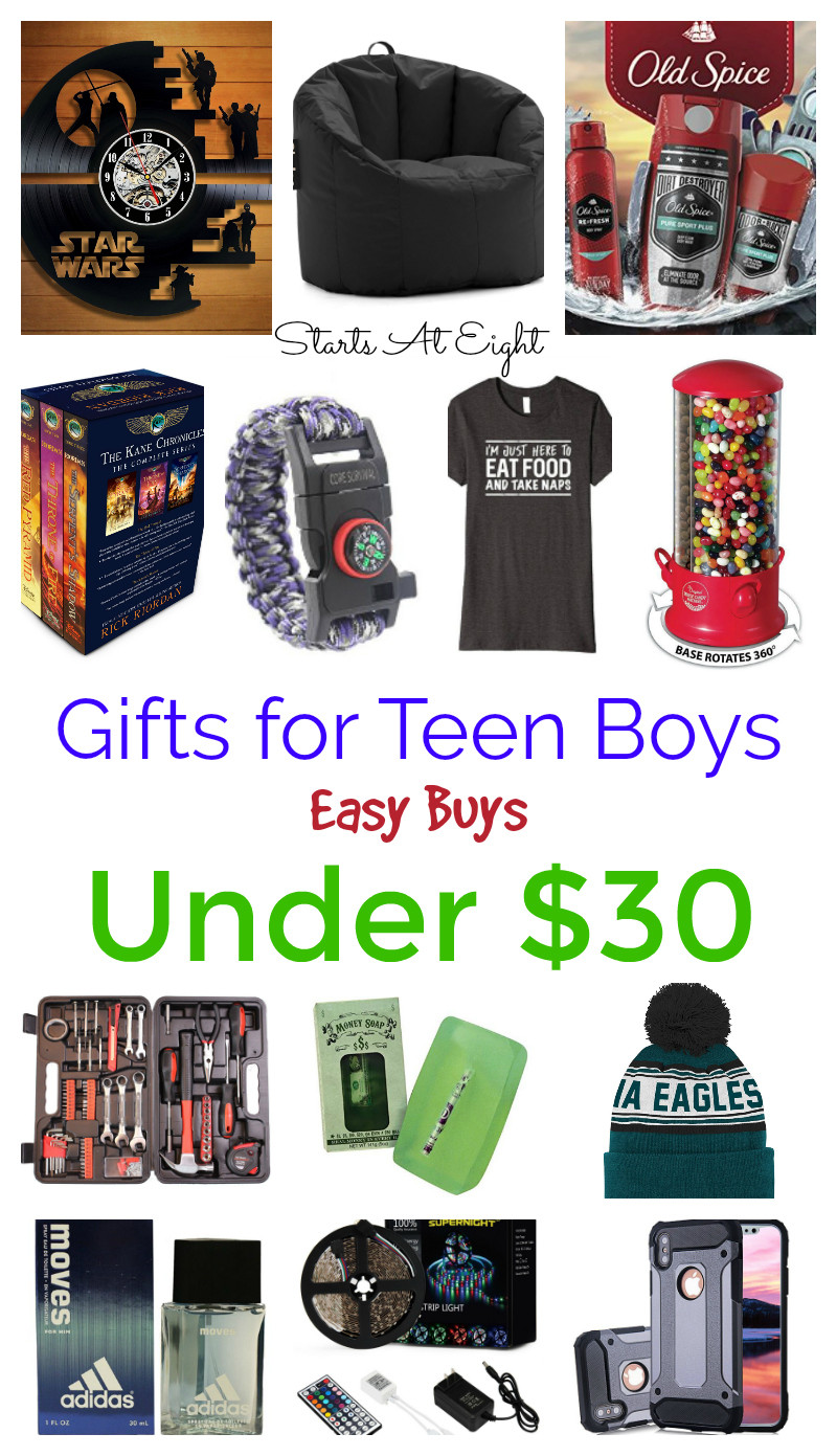Teen Boys Gift Ideas  Gifts for Teen Boys Easy Buys Under $30 StartsAtEight