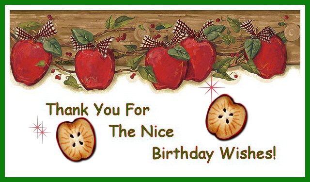 Thank You So Much For The Birthday Wishes  cucki stitching cove I M SO HAPPY