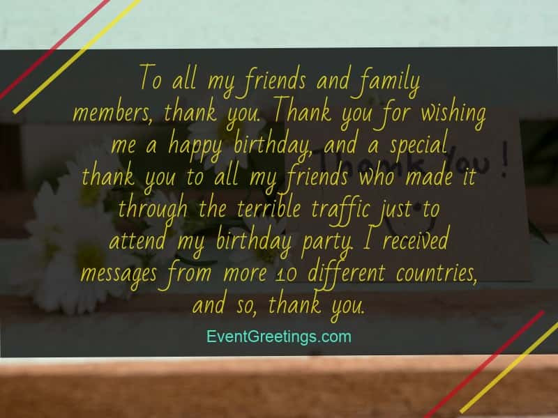 Thank You So Much For The Birthday Wishes  50 Best Thank You Messages for Birthday Wishes Quotes