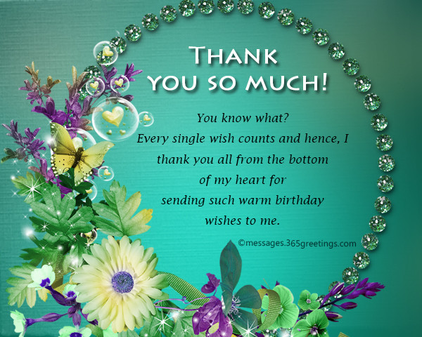 Thank You So Much For The Birthday Wishes  Thank You Message For Birthday Wishes