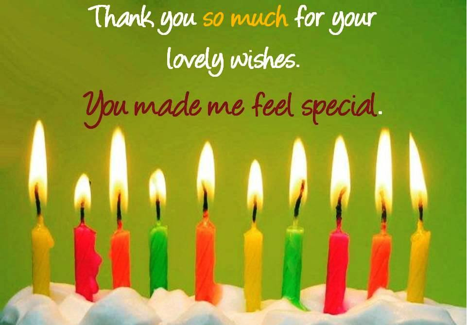 Thank You So Much For The Birthday Wishes  Thank you so much for ur wishes