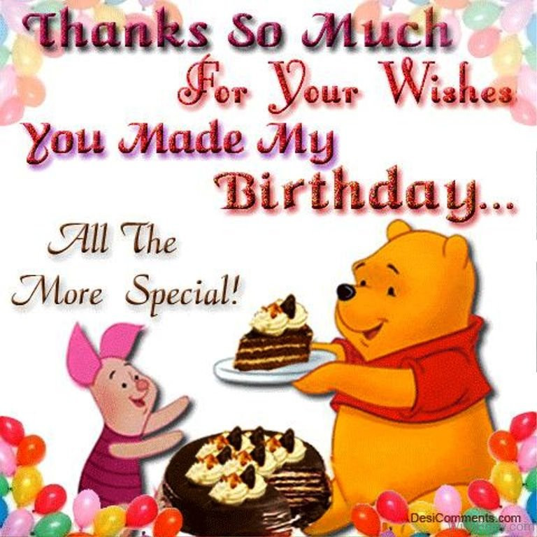 Thank You So Much For The Birthday Wishes  43 Thank You For The Birthday Wishes