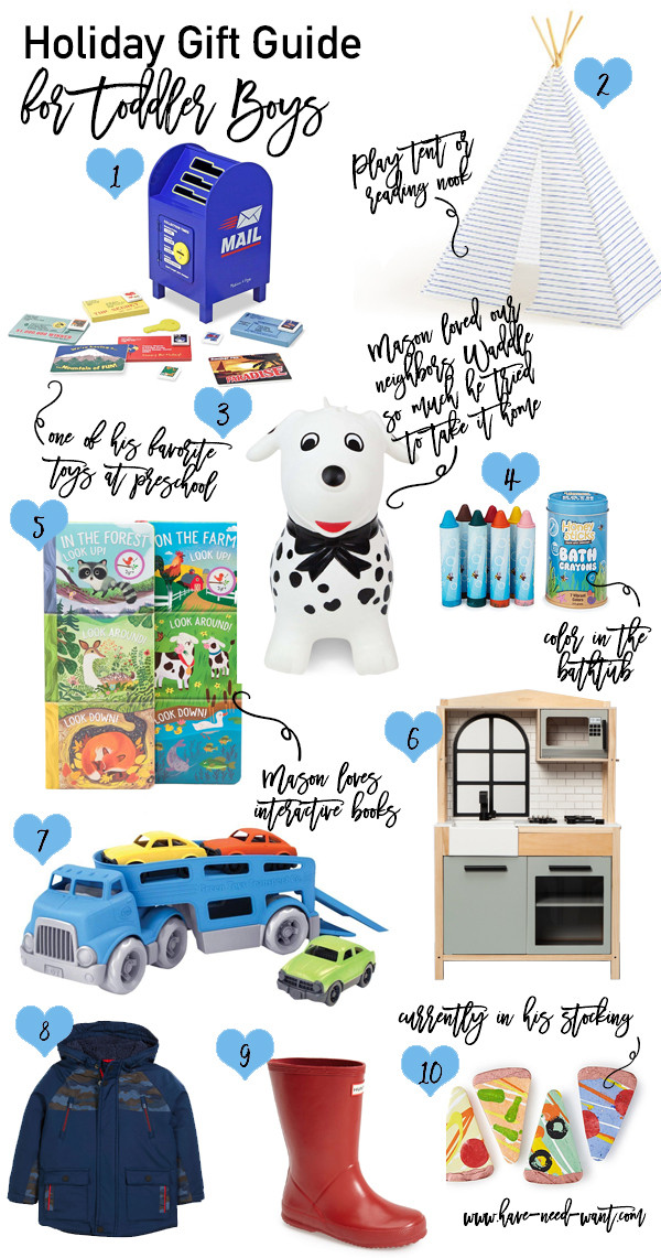Toddler Gift Ideas For Boys  Holiday Gift Ideas for Toddler Boys Have Need Want