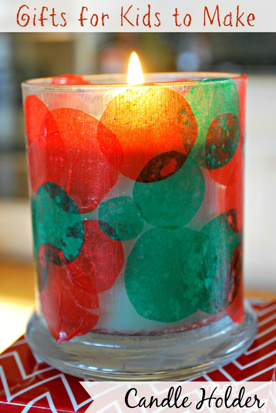 Toddler Made Christmas Gifts  Kids Christmas Craft Candle Holder Mess for Less