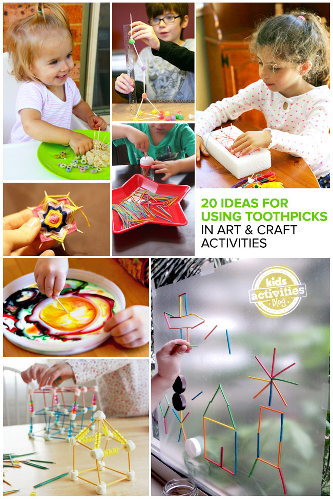 Toddlers Craft Projects  20 Great Ideas for Using Toothpicks in Art and Craft