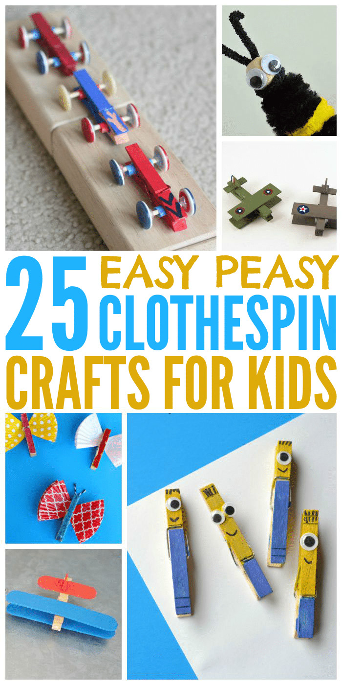 Toddlers Craft Projects  25 Easy Clothespin Crafts for Kids