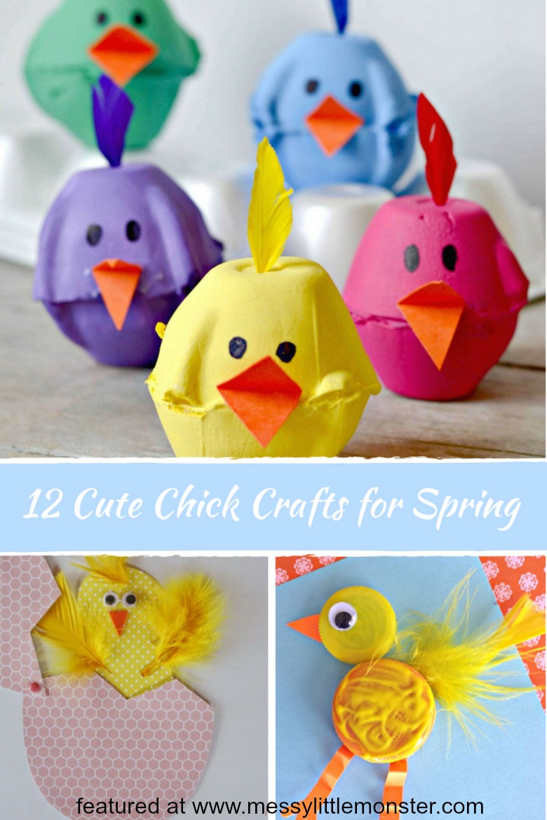 Toddlers Craft Projects  Cute Chick Crafts for Spring Messy Little Monster