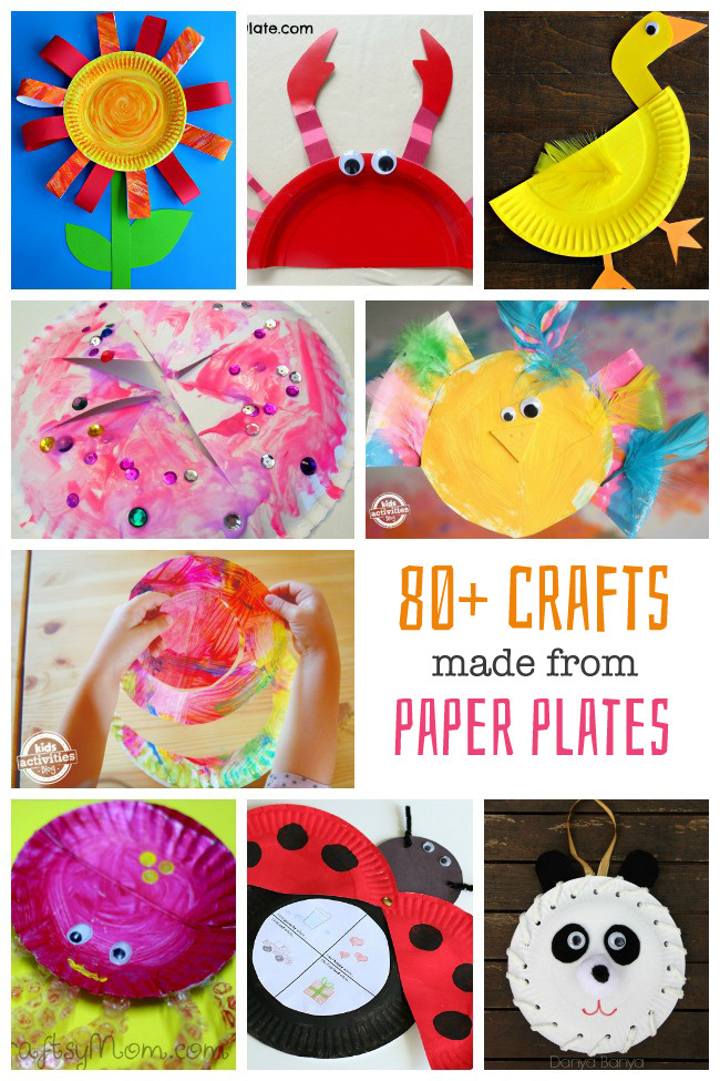 Toddlers Craft Projects  80 Paper Plate Crafts for Kids