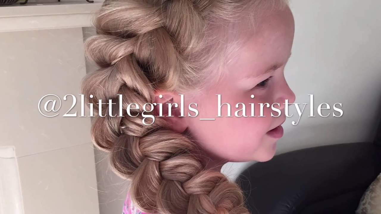 Two Little Girls Hairstyles  Extra Big Dutch braid by Two Little Girls Hairstyles