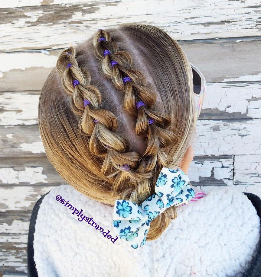 Two Little Girls Hairstyles  40 Cool Hairstyles for Little Girls on Any Occasion