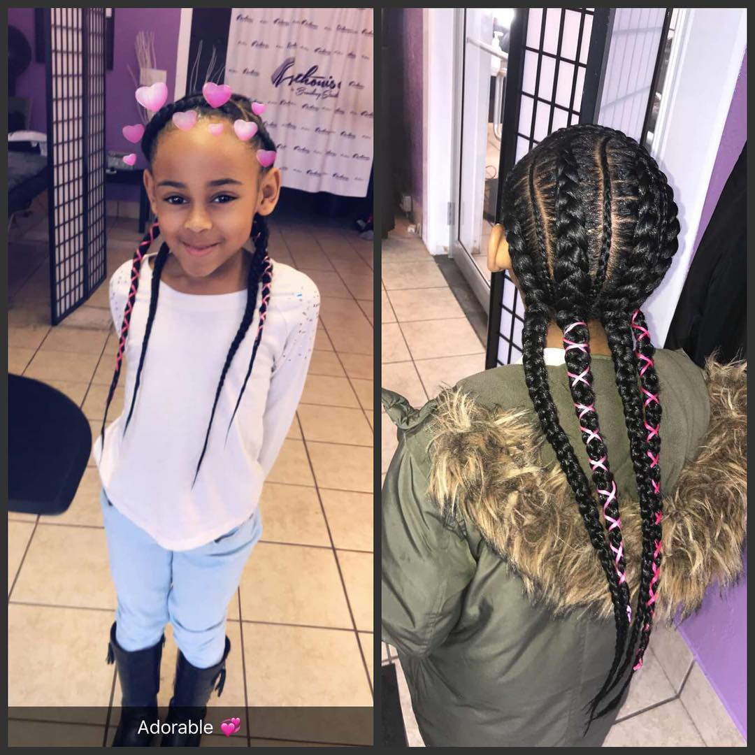 Two Little Girls Hairstyles  Awesome Braided Hairstyles For Little Girls Loud In Naija