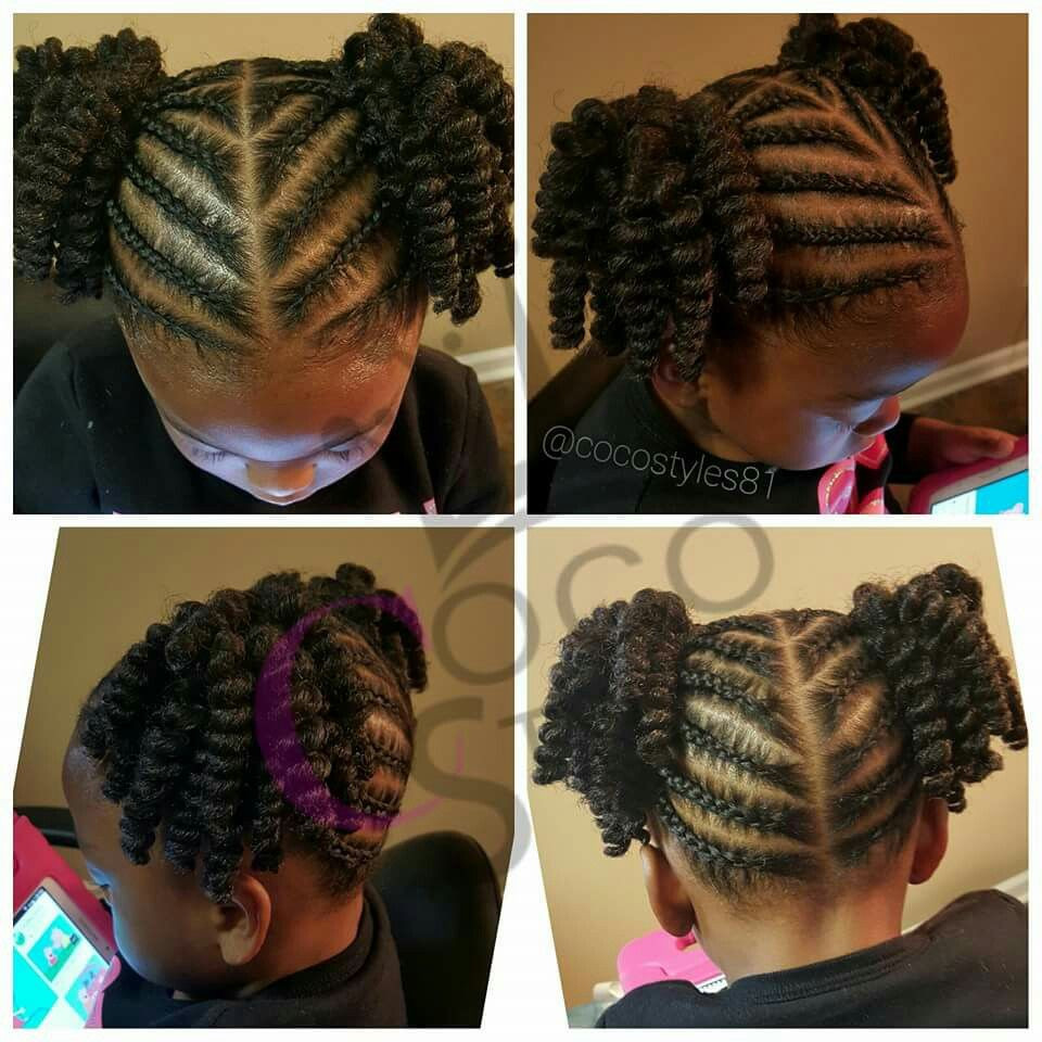Two Little Girls Hairstyles  Two ponytails kid hairstyle