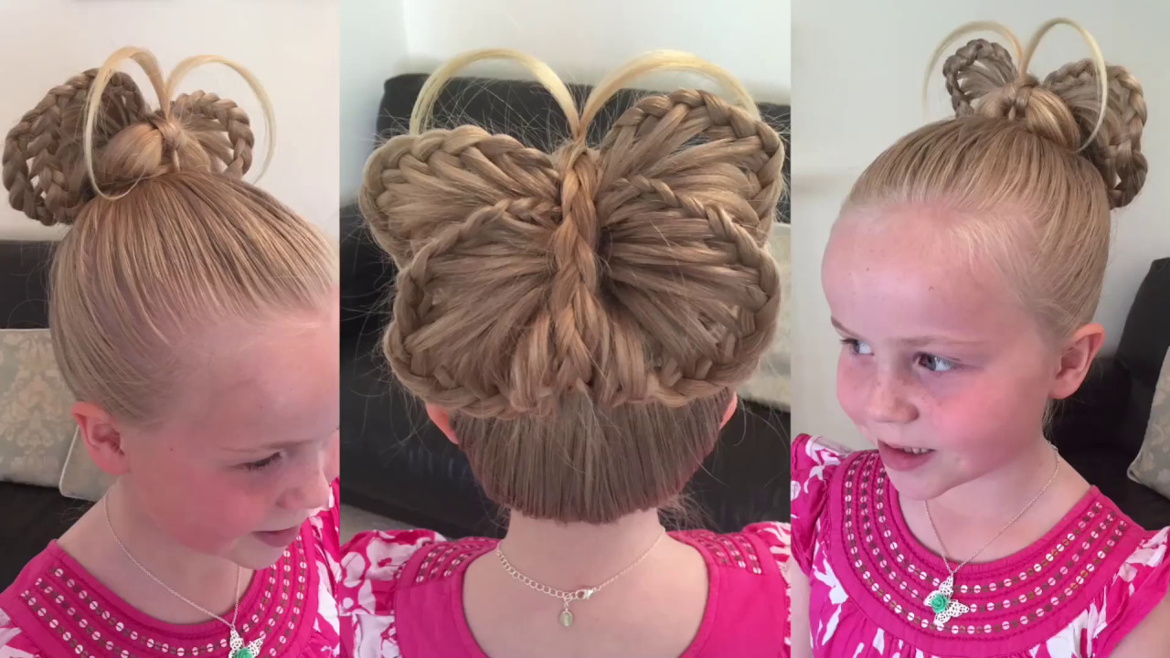Two Little Girls Hairstyles  Braided Butterfly hair tutorial by Two Little Girls