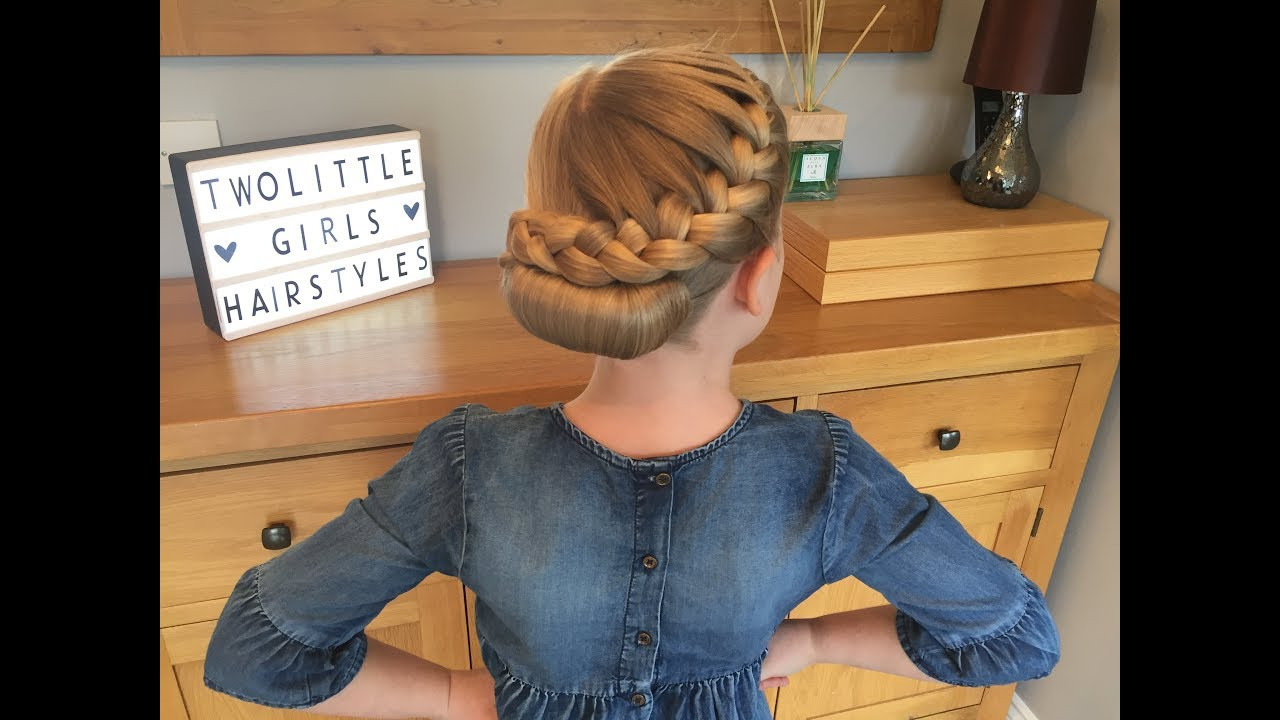 Two Little Girls Hairstyles  French Braid Roll hair tutorial by Two Little Girls