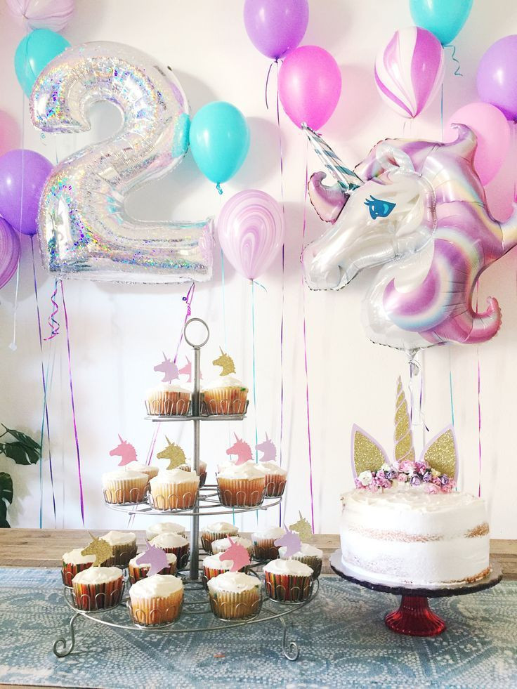 Two Years Old Birthday Party Ideas  2 year old Unicorn Birthday Party