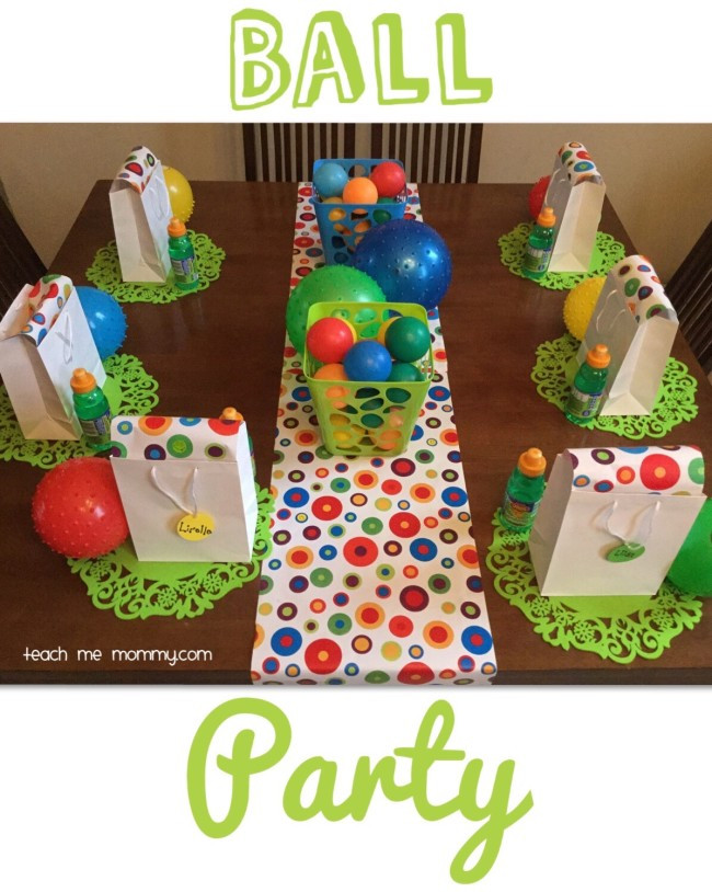 Two Years Old Birthday Party Ideas  Ball Themed Party for a 2 Year Old Teach Me Mommy
