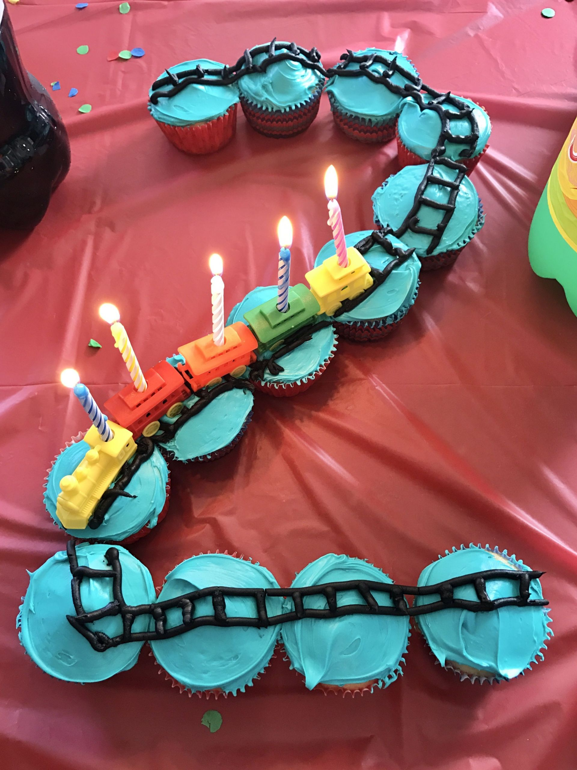 Two Years Old Birthday Party Ideas  Train theme birthday party cupcakes for a two year old