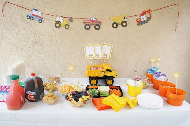 Two Years Old Birthday Party Ideas  2 year old boy truck party