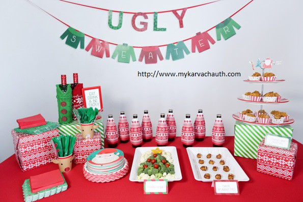 Ugly Christmas Sweater Party Decoration Ideas  Top Trends of Ugly Christmas Sweater Party Games Ideas to