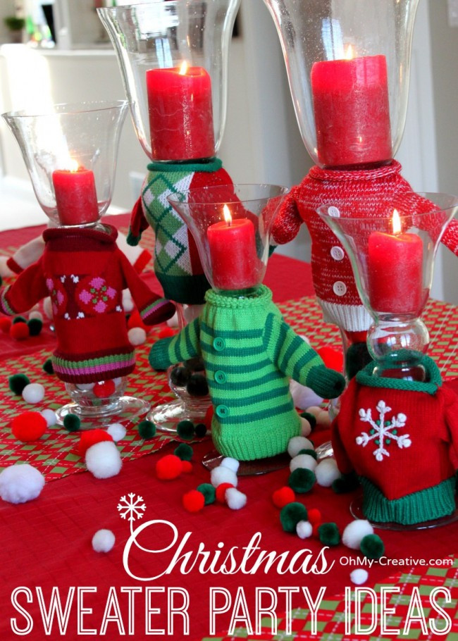 Ugly Christmas Sweater Party Decoration Ideas  50 Ugly Christmas Sweater Party Ideas Oh My Creative