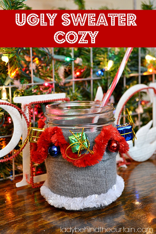 Ugly Christmas Sweater Party Decoration Ideas  DIY Christmas Sock Cozies