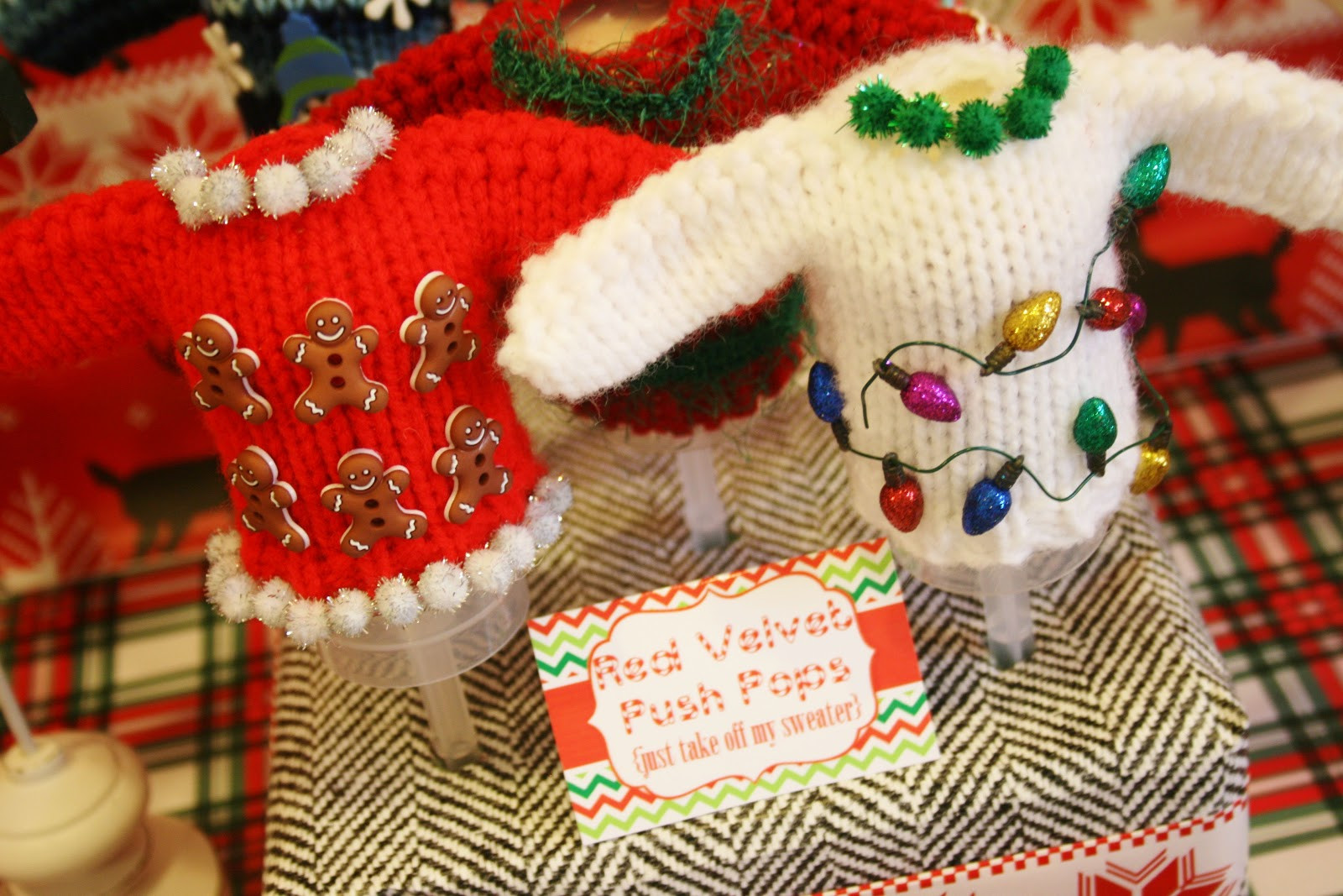 Ugly Christmas Sweater Party Decoration Ideas  And Everything Sweet Ugly Sweater Party