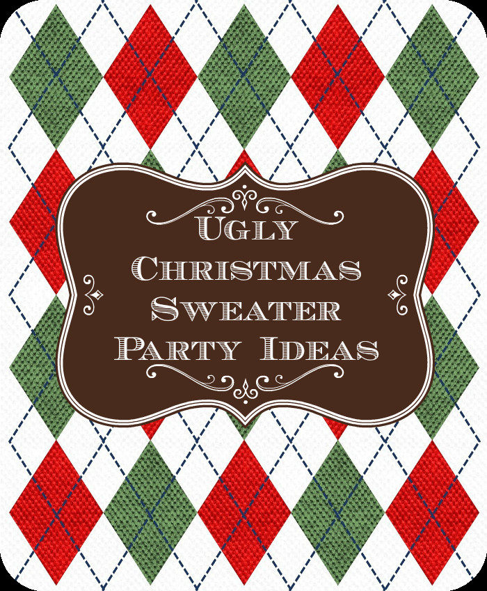 Ugly Christmas Sweater Party Decoration Ideas  Ugly Christmas Sweater Party Ideas Unique Christmas