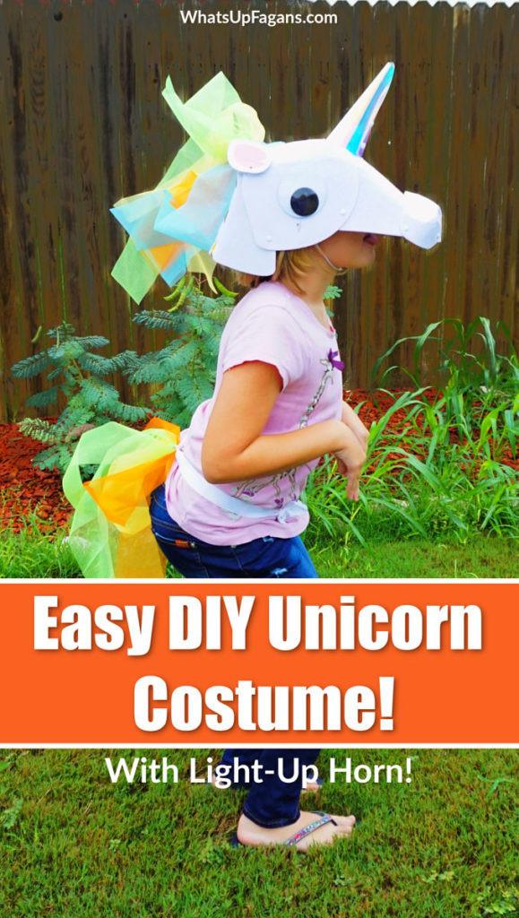 Unicorn Costume Child Diy  The Simple Way to Make a DIY Unicorn Costume with Felt and