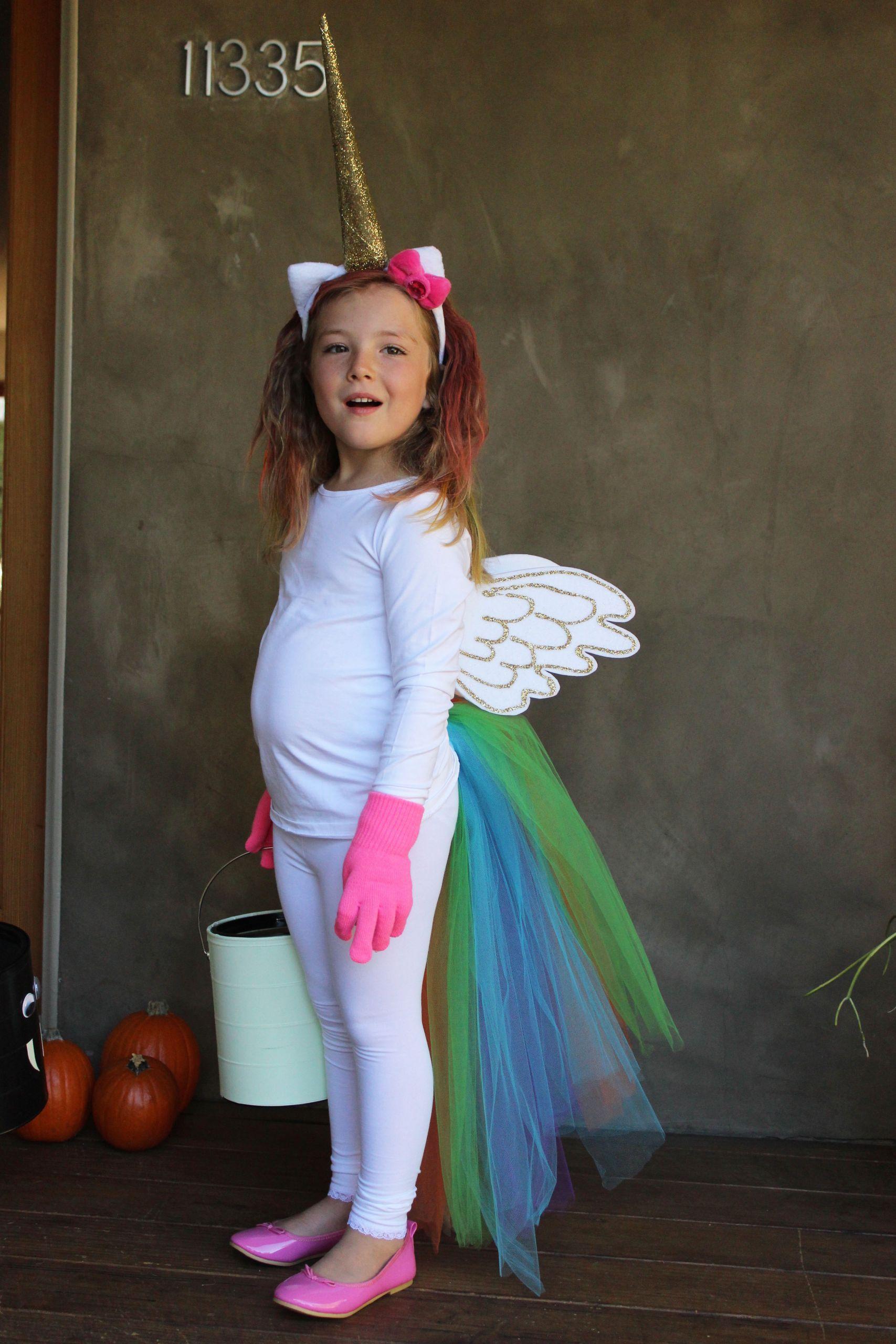 Unicorn Costume Child Diy  Diy Unicorn Halloween Costumes