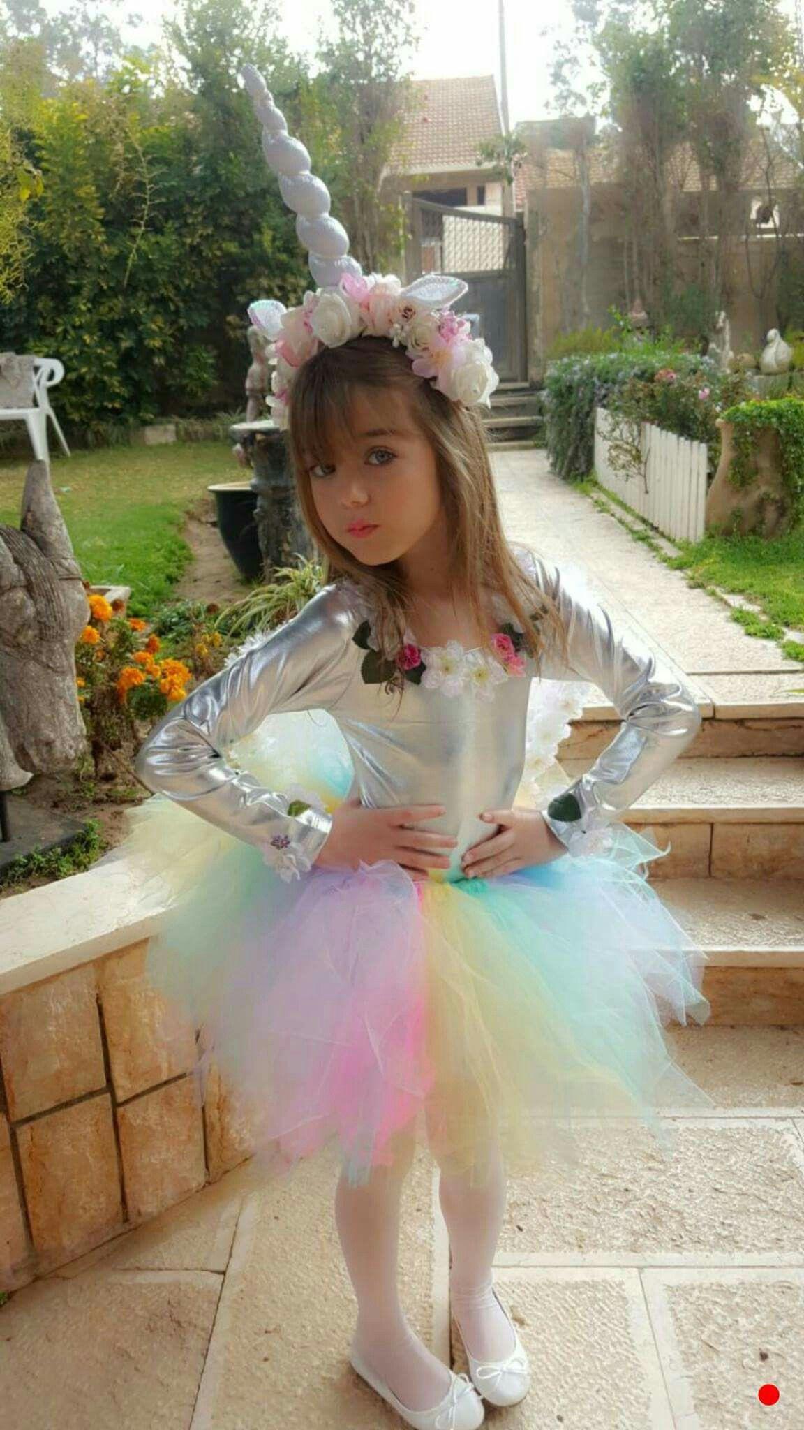 Unicorn Costume Child Diy  opening show sage Beautiful Cases For Girls
