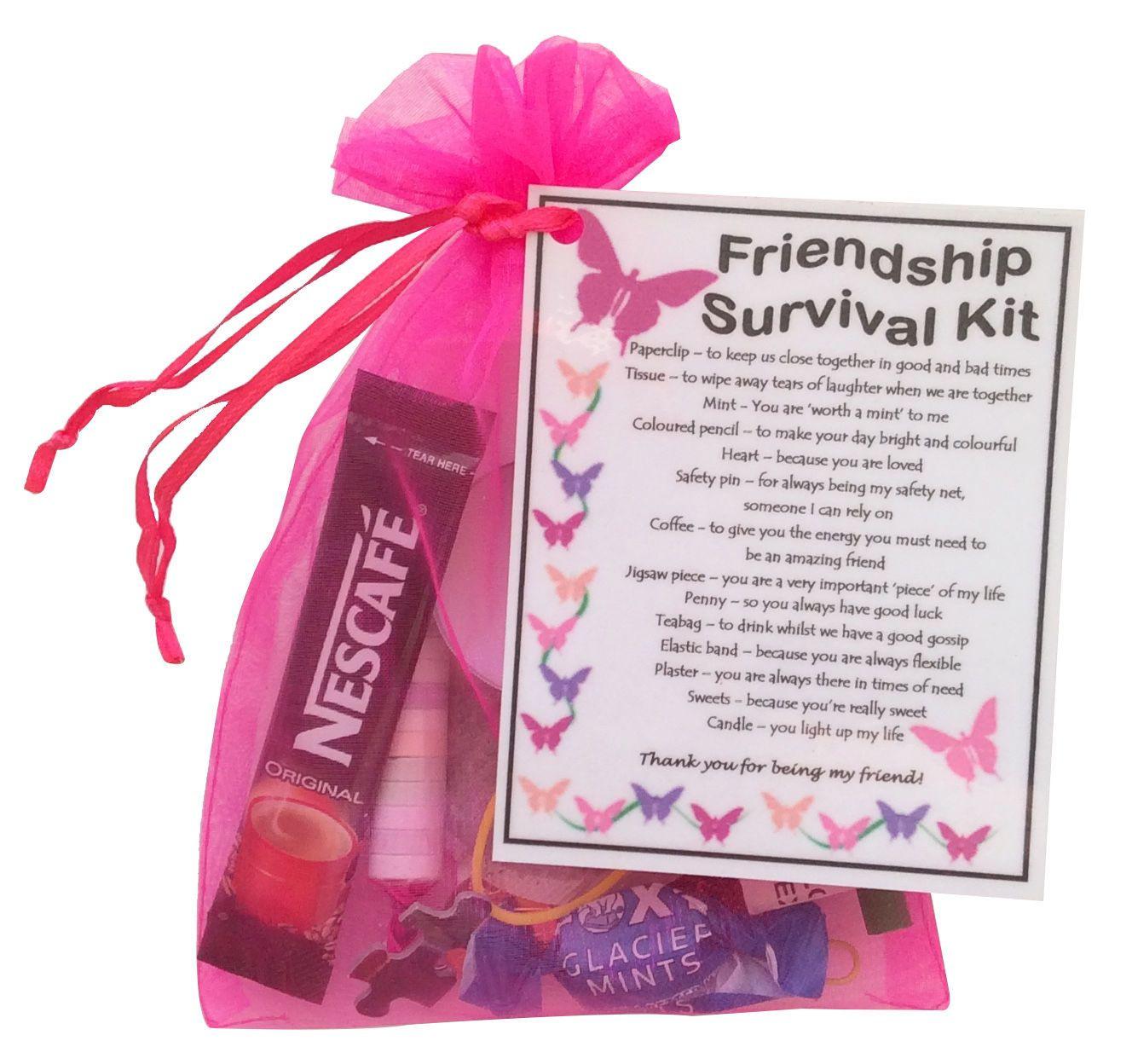 Unique Gift Ideas For Best Friend  Details about Friendship BFF Best Friend Survival kit