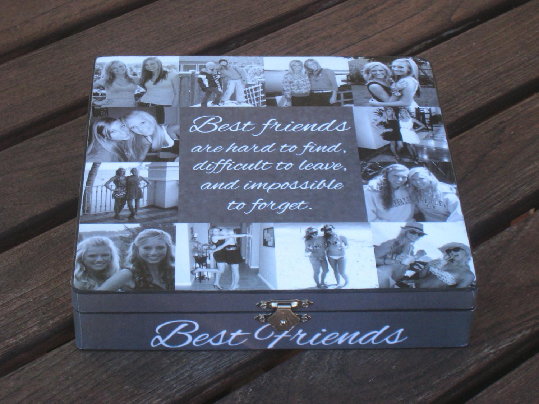Unique Gift Ideas For Best Friend  Best Friends Collage Keepsake Box Unique Maid of Honor