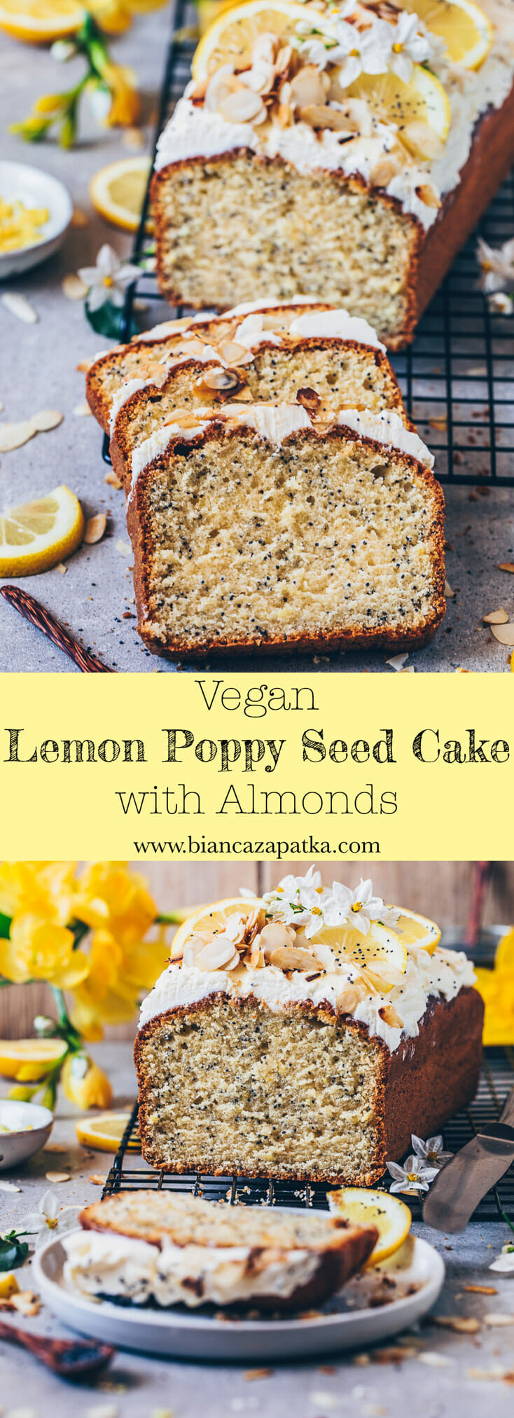 Vegan Lemon Cake Recipes  Lemon Poppy Seed Cake Vegan Bianca Zapatka