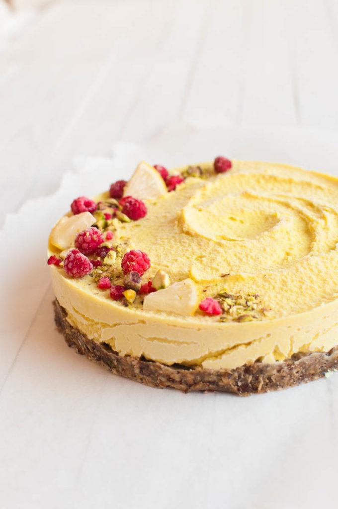 Vegan Lemon Cake Recipes  Raw Vegan Lemon Cheesecake