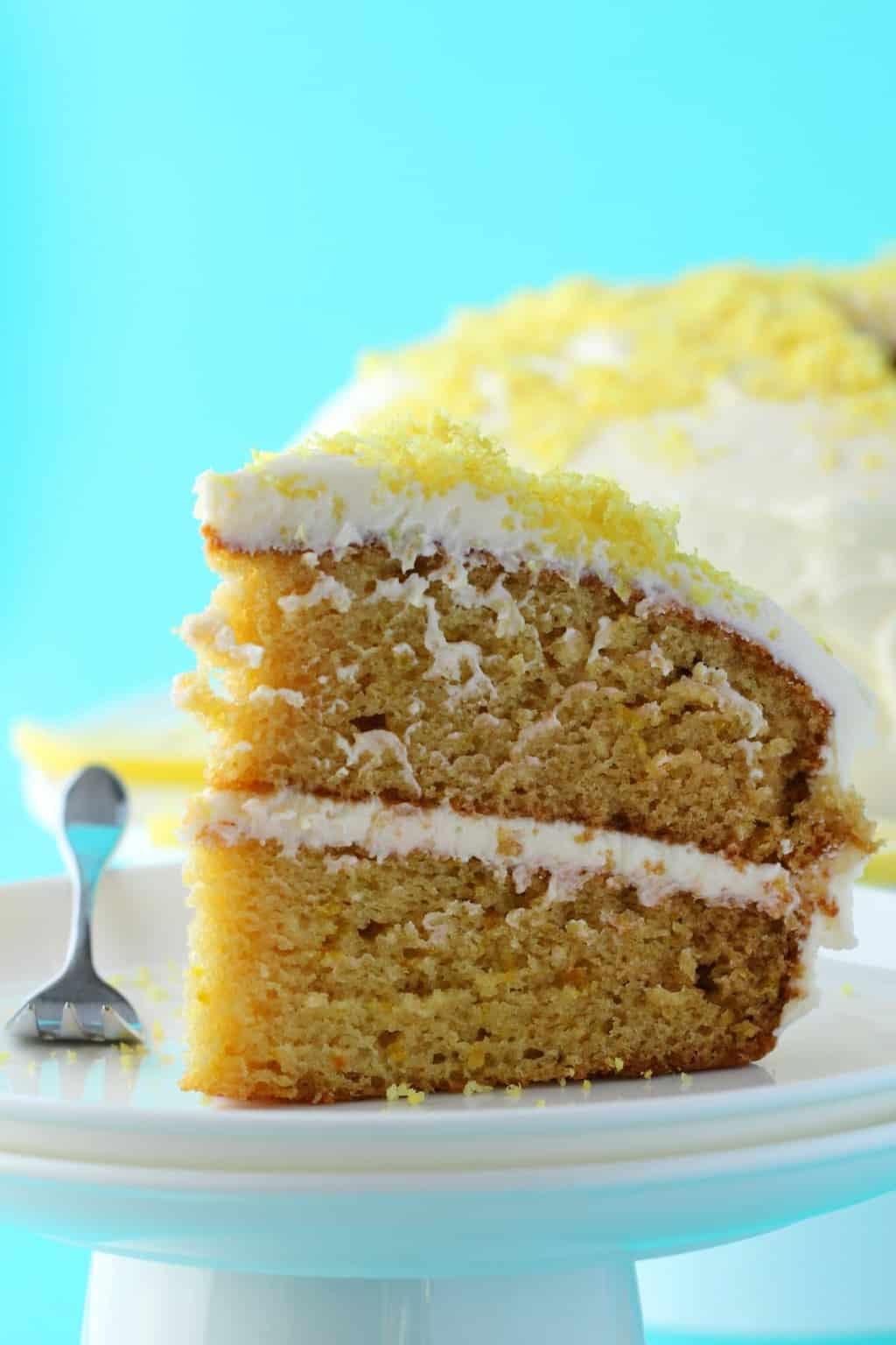 Vegan Lemon Cake Recipes  Vegan Lemon Cake Spongey 2 Layer Dream Cake Loving It