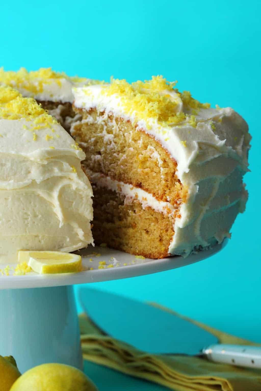 Vegan Lemon Cake Recipes  Vegan Lemon Cake – Spongey 2 Layer Dream Cake Recipes