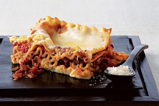 Vegetarian Lasagna Epicurious  Porcini Mushrooms Lend A Rich Meatiness To This Decadent