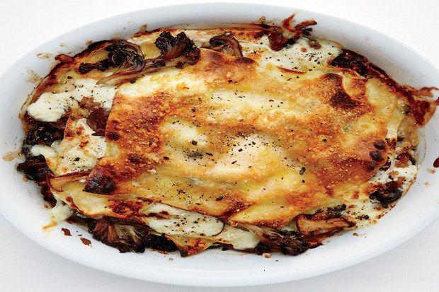 Vegetarian Lasagna Epicurious  Mushroom and Burrata Lasagnette Recipe