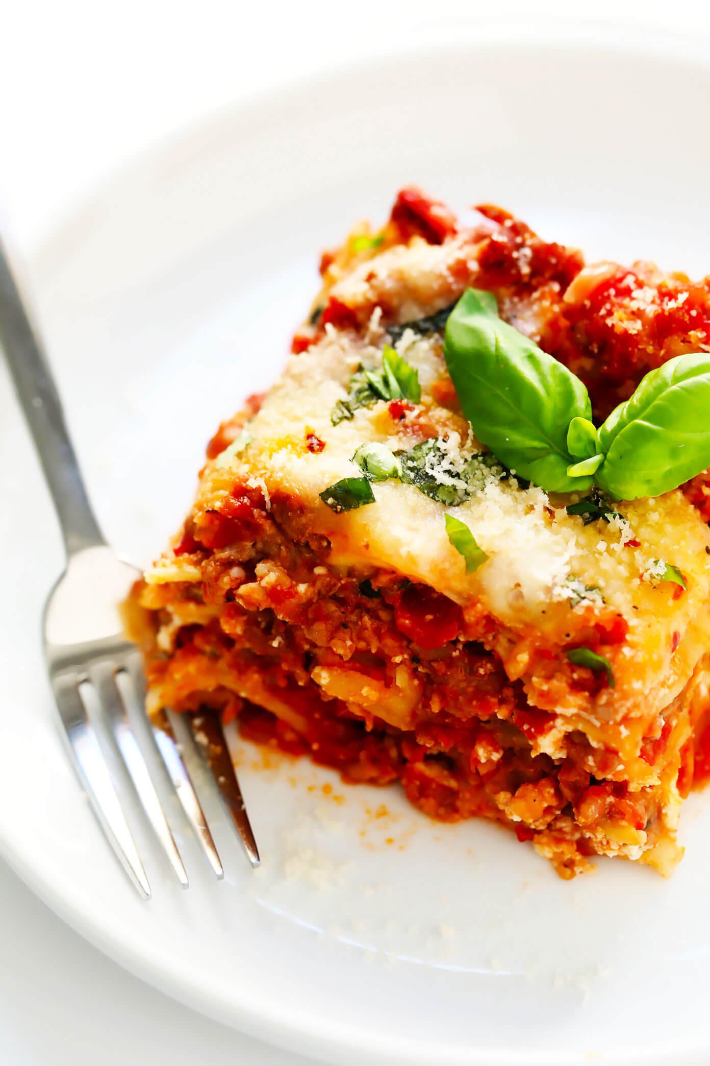 Vegetarian Lasagna Epicurious  The BEST Lasagna