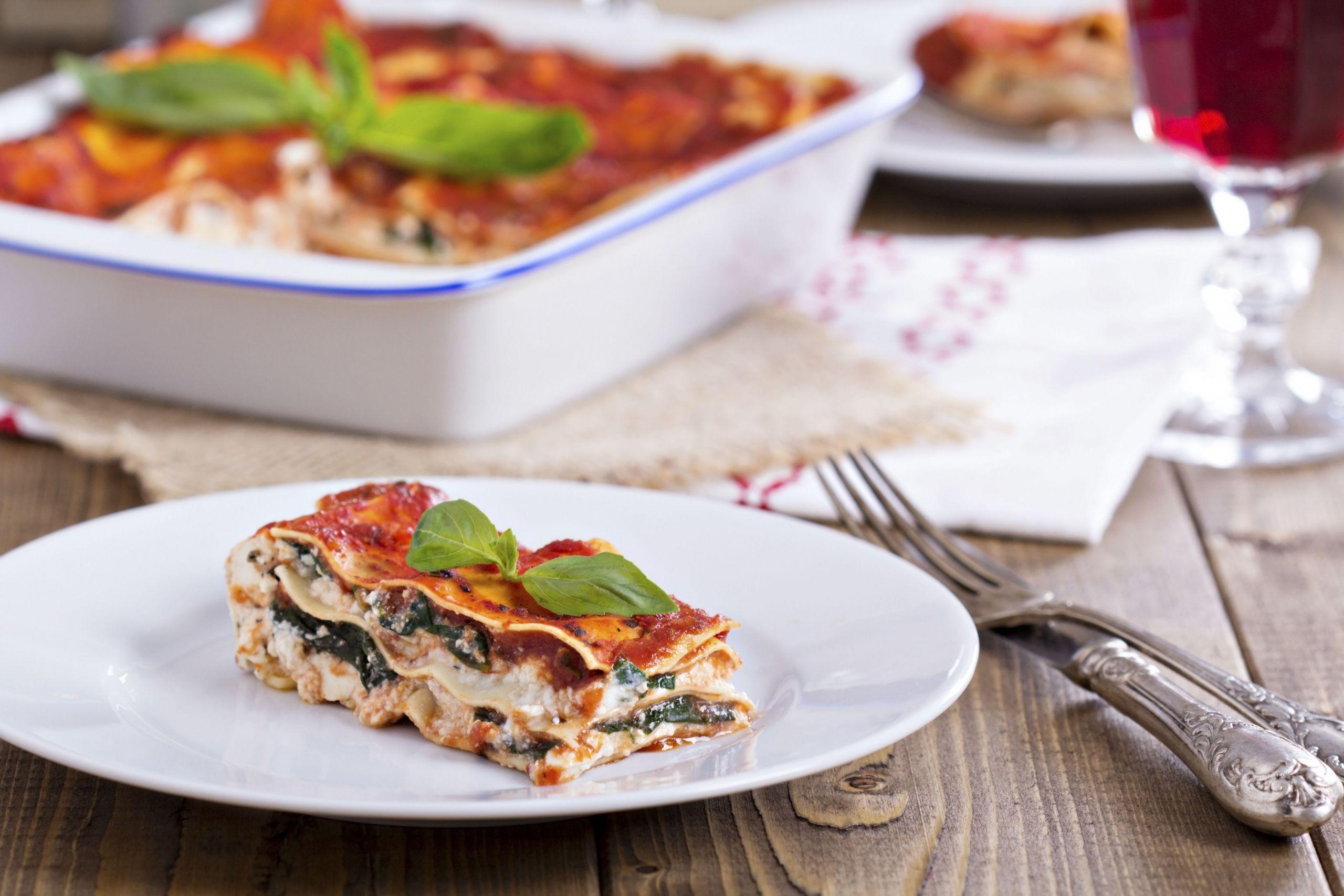 Vegetarian Lasagna Epicurious  Lasagna is the pie of dinners