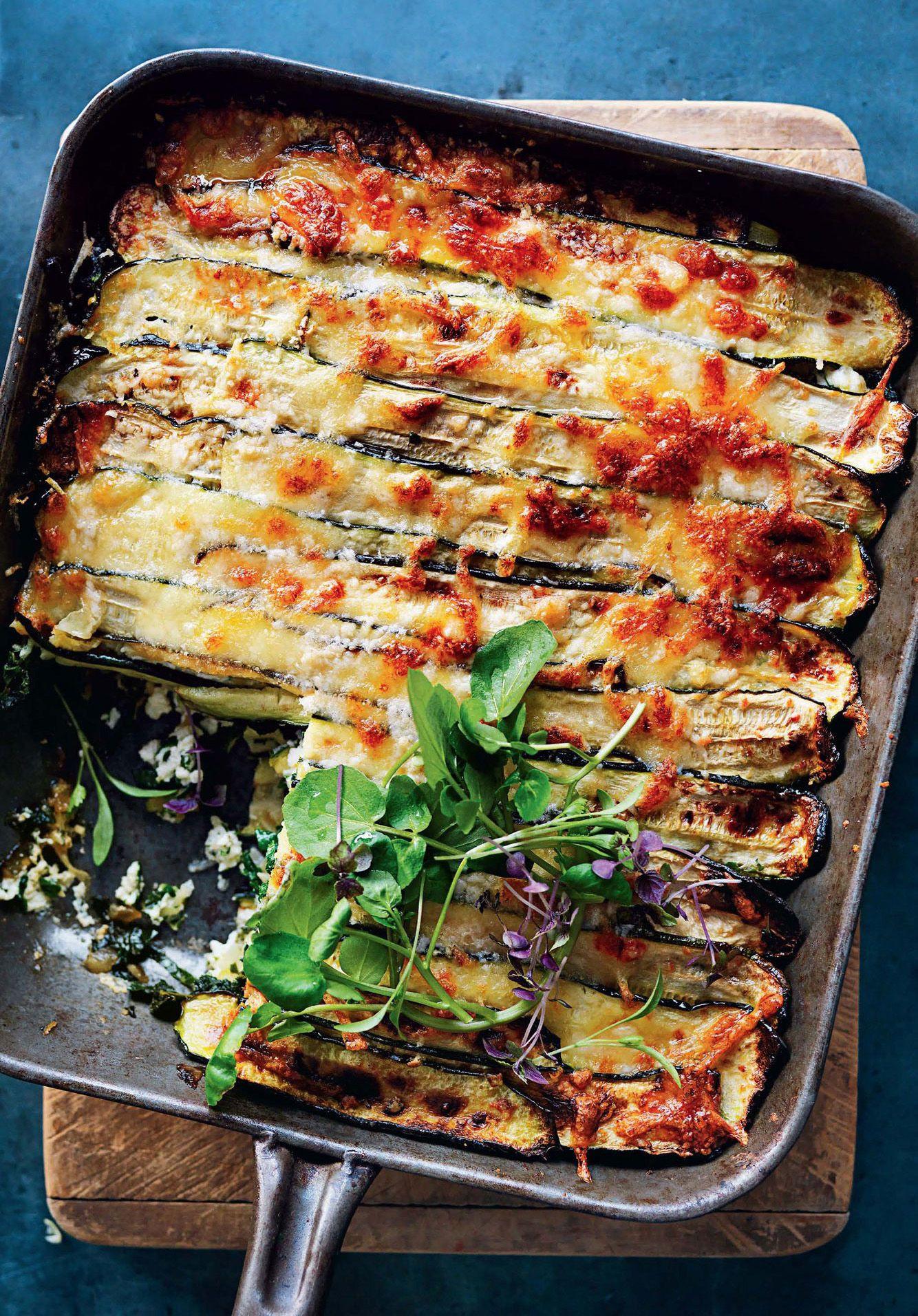 Vegetarian Lasagna Epicurious  Roasted Zucchini Lasagna Recipe in 2020