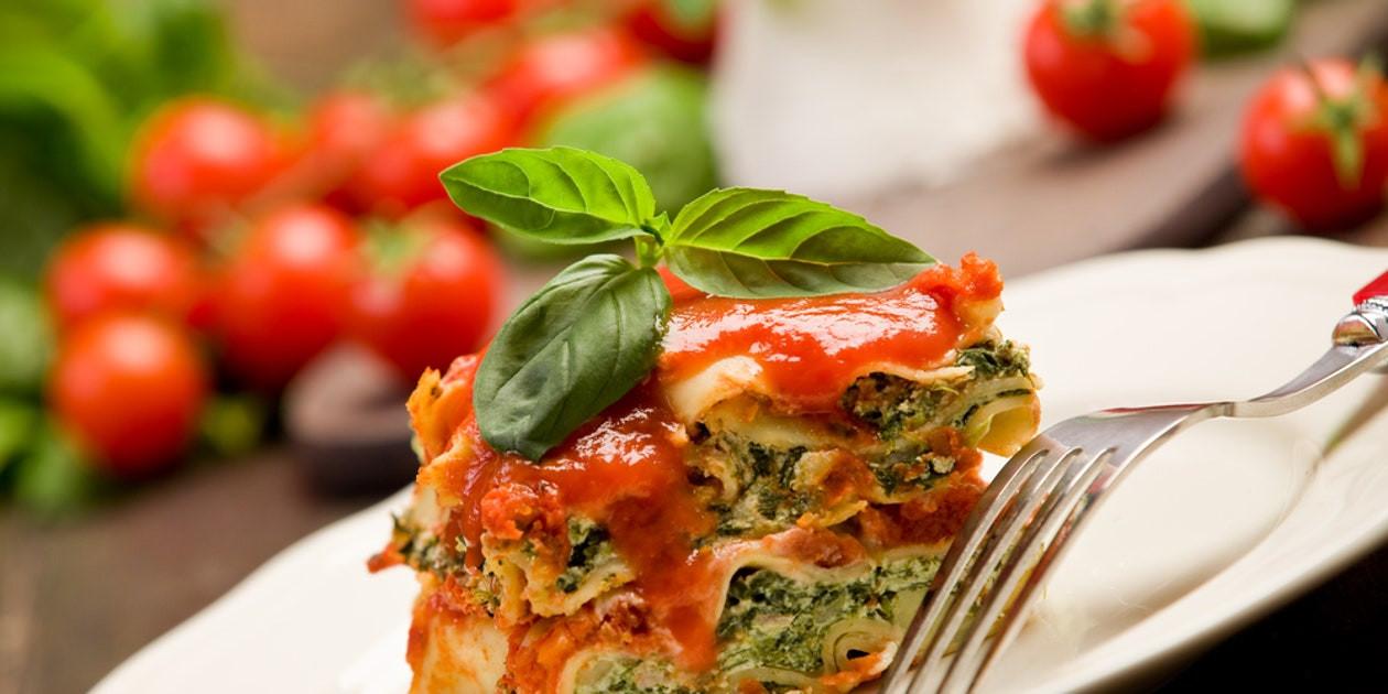 Vegetarian Lasagna Epicurious  Lean Lasagna recipe