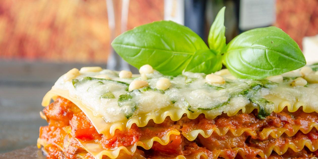 Vegetarian Lasagna Epicurious  Ve able Lasagna recipe