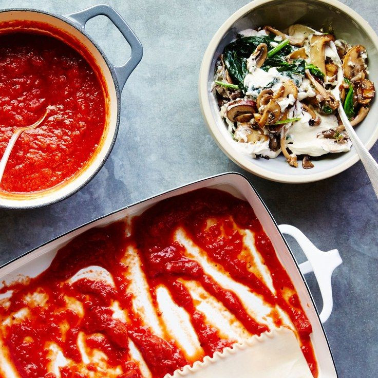 Vegetarian Lasagna Epicurious  Creamy Vegan Mushroom Lasagna Recipe