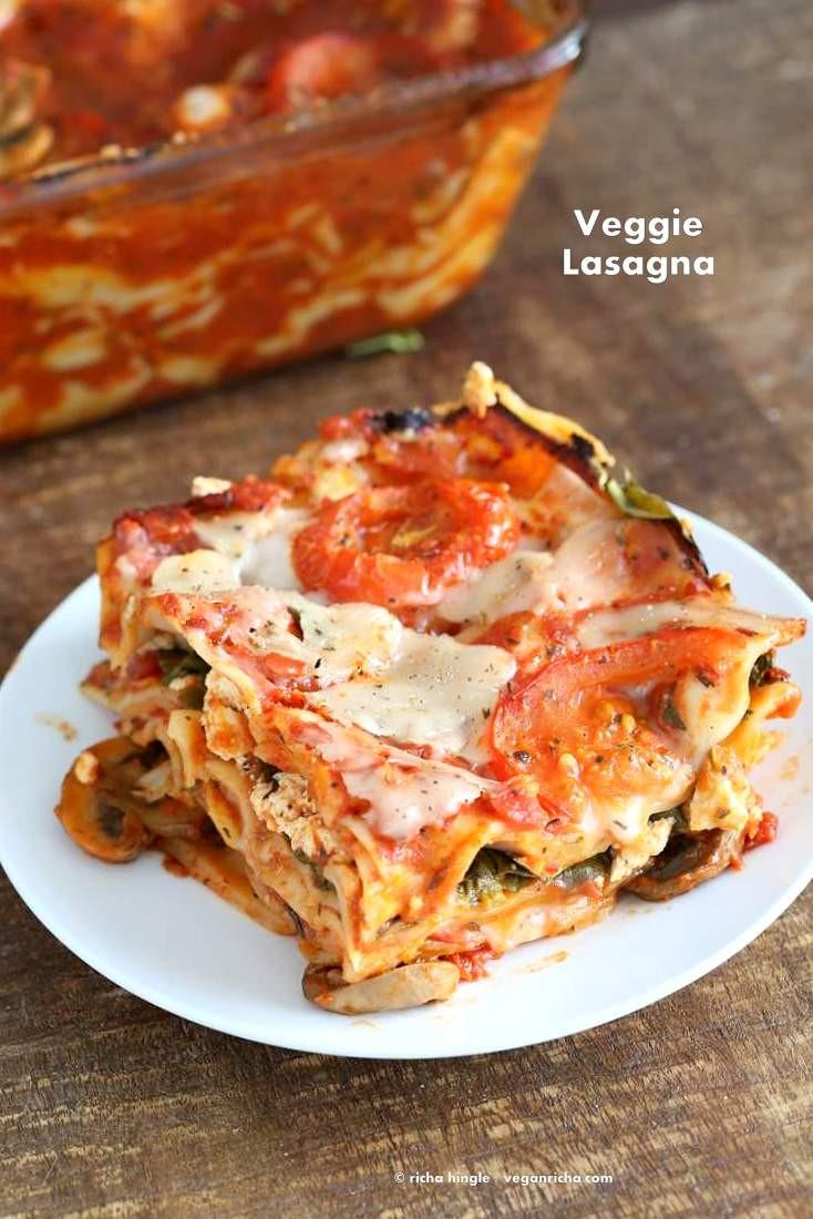 Vegetarian Lasagna Epicurious  Easy Eggless Lasagna Recipe