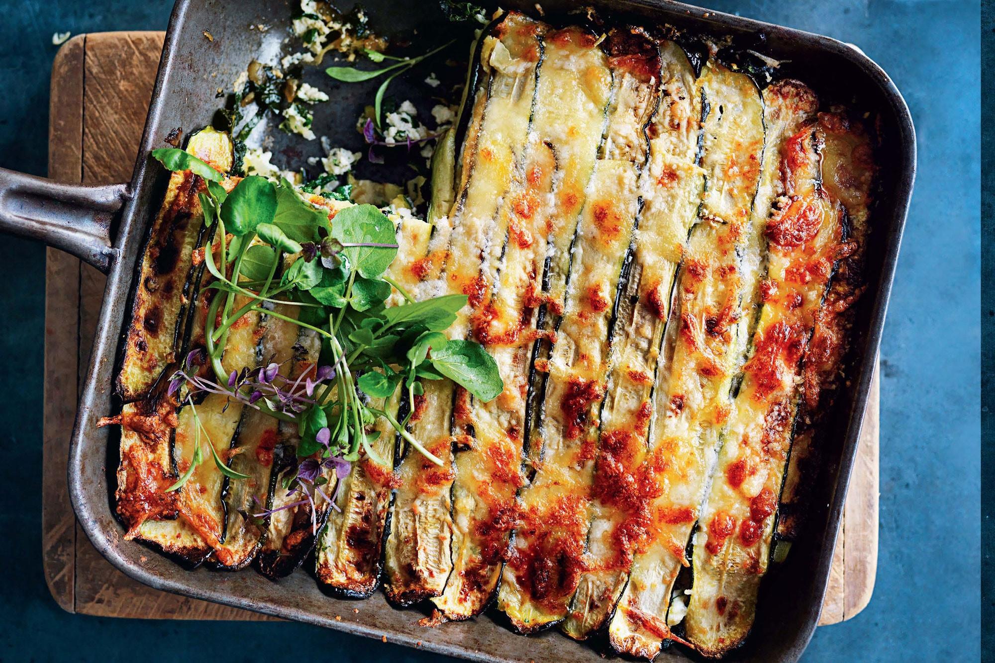 Vegetarian Lasagna Epicurious  Roasted Zucchini Lasagna recipe