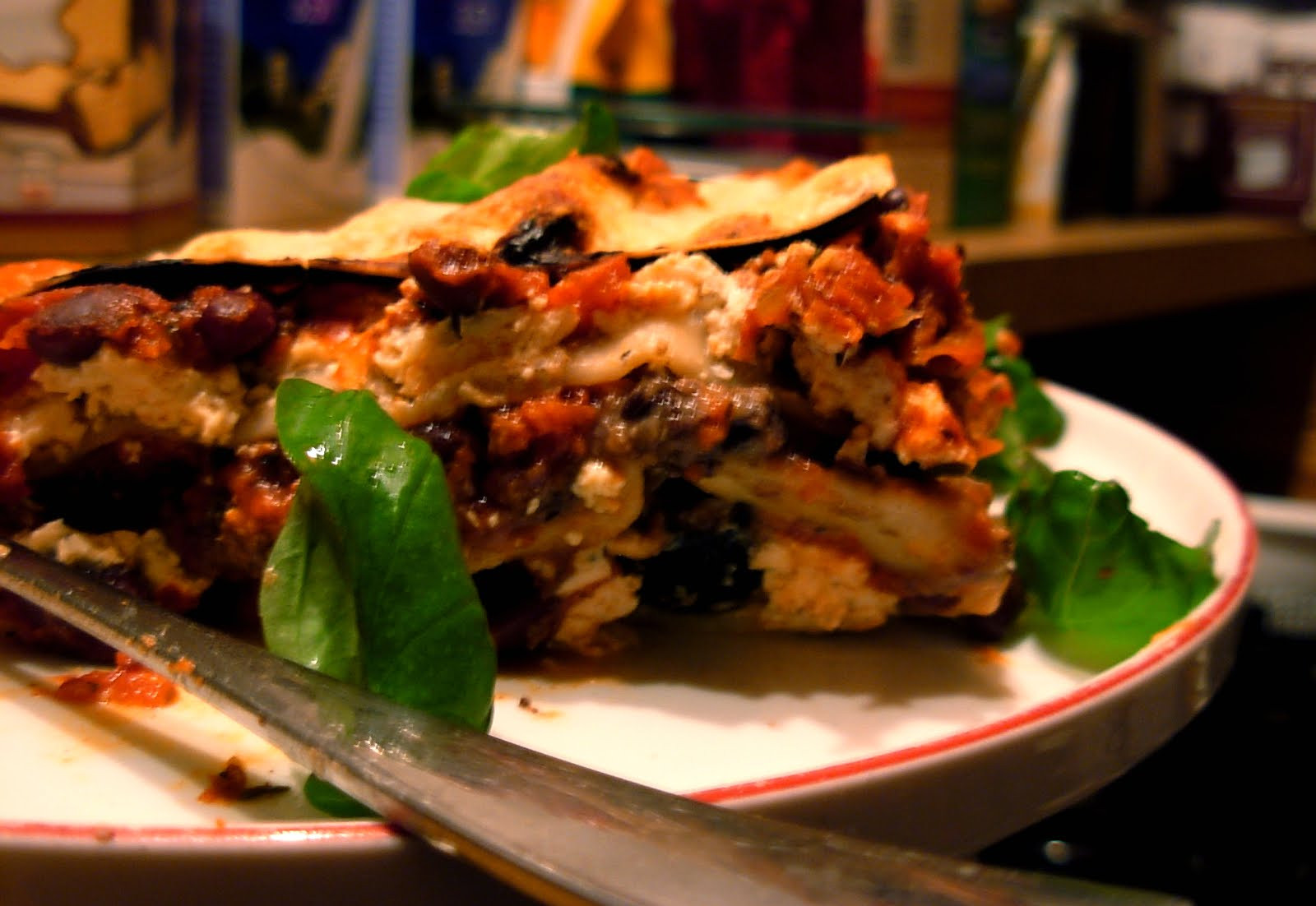Vegetarian Lasagna Epicurious  true Ve arian Lasagna with Black Beans